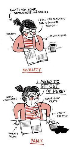 anxiety panic attack illustration