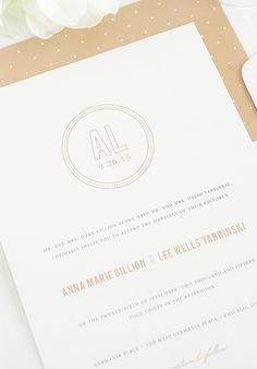 Pretty & personalized wedding invitations