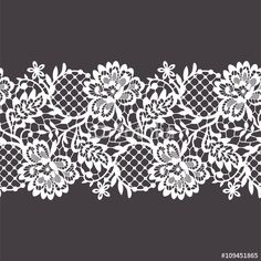 """Download the royalty-free vector """"Lace Ribbon Seamless Pattern"""" designed by Ajuga at the lowest price on Fotolia.com. Browse our cheap image bank online to find the perfect stock vector for your marketing projects!"""