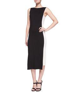Sleeveless Uneven-Hem Sheath Dress by Donna Karan at Bergdorf Goodman.
