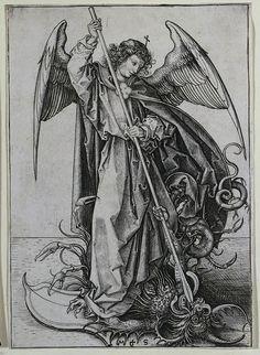 Archangel Michael | The Archangel Michael Piercing the Dragon | david hill