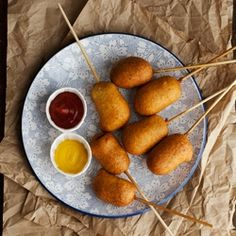 Corn Dog Pops. A summer fave in a mini package.  #foodgawker