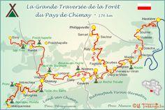 Bivakzone - 9 X Viroinval & Chimay Trekking, Places To Visit, Hiking, Map, How To Plan, City, Travel, Trips, Camping