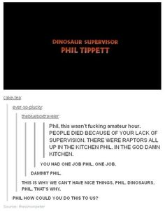 For years, the Internet has blamed Phil Tippett for the Jurassic Park killings. | Jurassic Park's Dinosaur Supervisor Isn't Taking The Fall For Kitchen Raptors