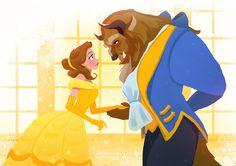 disney, princess, and beauty and the beast εικόνα Disney Pixar, Disney Amor, Animation Disney, Film Disney, Disney Princess Art, Disney Couples, Disney Fan Art, Disney And Dreamworks, Animation Film
