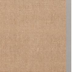 Hand-woven Bonanza Tan Natural Fiber Jute Rug Grey border (5' x 8') $143.99