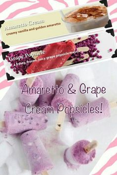 Amaretto & Grape popsicle Need a scent sample? Sprinklejunction @yahoo.com to request yours!