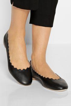Chloé Lauren leather ballet flats NET-A-PORTER.COM