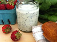 Poppyseed Yogurt Dressing--perfection on strawberry salad but I have some other thoughts in mind!
