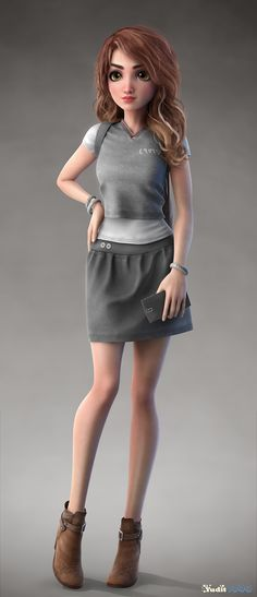 Jessica by Yuditya Afandi | Cartoon | 3D | CGSociety