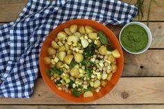 Salada de Batata com Molho de Ervas Black Eyed Peas, Beans, Lunch, Vegetables, Food, Ranch Potatoes, Potato Salad, Salads, Lunch Ideas