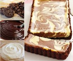 How to DIY Chocolate Ripple Cheesecake Tart | www.FabArtDIY.com