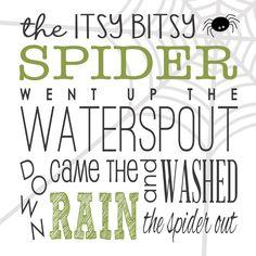Itsy Bitsy Spider | FREE Printable - Blogger Templates | WordPress Templates | Blog Design - Designer Blogs