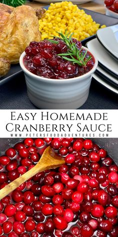 Homemade Cranberry Sauce is incredibly easy to make with only 3 ingredients. My secret is the Ginger Ale. This recipe can also be used to make Lingonberry Sauce perfect for Thanksgiving or Christmas. Fruit Recipes, Sauce Recipes, Healthy Recipes, Delicious Recipes, Easy Recipes, Different Recipes, Other Recipes, Lingonberry Recipes, Easy Cooking