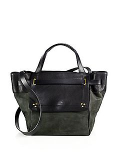 Jerome Dreyfuss Vladmir Leather & Suede Tote