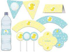 Festa Patinho de borracha - chá de bebê - amarelo e azul  Tuty - Arte  www.tuty.com.br