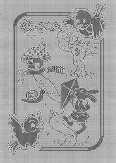 Gallery Home Schemi Uncinetto Copertine Neonato Filet copertina filet