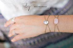 DIY Rhinestone Bracelet | HelloNatural.co