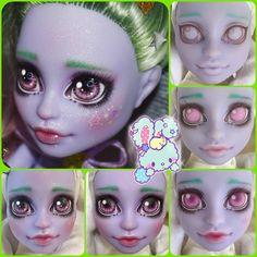 Custom Monster High Dolls, Monster High Repaint, Custom Dolls, Doll Repaint Tutorial, Doll Tutorial, Doll Painting, Biscuit, Doll Maker, Ooak Dolls
