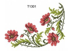 """Poppies in the Cross Stitch Technique"" 