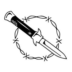 Home crime  #tattoo  #tattoodesign #blacktattoo #blackwork #ink #knife #crime #stiletto