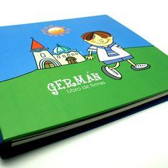 Libro de firmas personalizado con cualquiera de las ilustraciones que forman nuestro catálogo de comuniones.- ADUO- www.aaduo.es