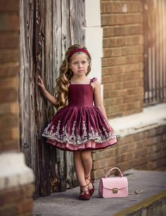 Pretty As a Picture Dress Red Little Girl Outfits, Little Girl Fashion, Kids Outfits, Baby Girl Dresses, Cute Dresses, Flower Girl Dresses, Kids Fashion Show, Toddler Fashion, Toddler Dress