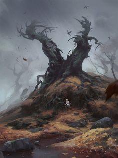 ArtStation - Tree monster, Nicholai Litvinenko