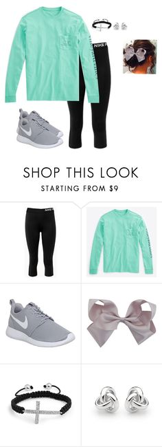 """""""ALMOST exactly what my friend is wearing"""" by moseleym ❤ liked on Polyvore featuring NIKE, Vineyard Vines, Bling Jewelry and Georgini"""