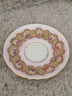 Vtg. ROYAL STAFFORD ENGLAND TEACUP & SAUCER - GOLD PINK FLOWERS NUMBERED | Pottery & Glass, Pottery & China, China & Dinnerware | eBay!