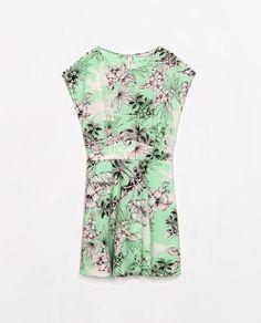 4cba4efe1582 QZ1556 New Fashion Ladies  Elegant sweet floral print green Dress O neck  short sleeve causal slim brand designer dress