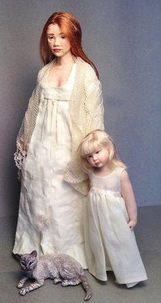 Susan Scogin Dollhouse Dolls, Miniature Dolls, Dollhouse Miniatures, Dollhouse Clothing, Doll House People, Victorian Dolls, Polymer Clay Dolls, Felt Dolls, Ooak Dolls