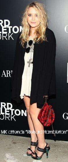 Mary-Kate Olsen attends Richard Hambleton. #style #fashion #olsentwins