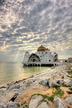 Melaka Straits Mosque (Masjid Selat Melaka), Malaysia