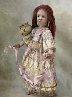 Sofara, African girl  doll by Susan Krey