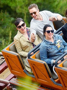 Ginnifer Goodwin and Josh Dallas rode the Big Thunder Mountain Railroad ride at Disneyland on April 29.