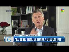 """Macri, en exclusiva con Majul: """"Nosotros no somos lo mismo que el kirchn... Tv, Wrestling, Television Set, Television"""