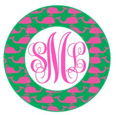 Whale Monogram Shirt {GIRL}: Lollipops and Lemondrops