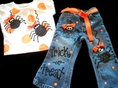 Custom Boutique girl HALLOWEEN SASSY SPIDER shirt by dashydesigns