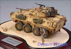 Award winner built and painted Golf War diorama with realistic weathering.