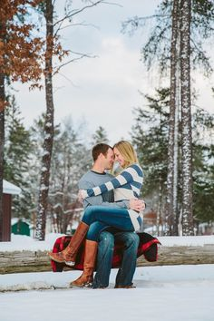 Winter Forest Engagement | Chris and Heather » Beyond Imagination Photography
