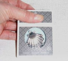 Silver Shell Pendant Crystalized Swarovski by SheCollectsICreate