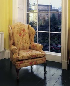 Queen Anne Wing Chair in Fabric