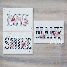 Stampin' Up! - Large Letters Framelits, Labeler Alphabet, Jar of Love - ZoKris