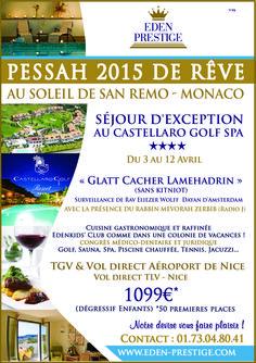Pessah 2015 VACANCES PESSAH 2015 CLUBS VACANCES