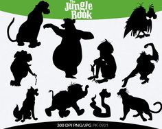 The Jungle Book Instant Download silhouette by pinkykatieclipart