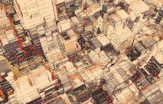 Atelier Olschinsky - City Walls e Pixel City - Serie di città illustrate tra architettura e digitale
