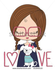 Beautiful romantic girl/cute girl/T-shirt Graphics/illustration princess girl
