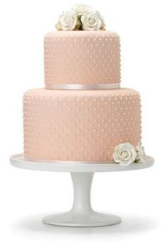 pretty pearly pink cake