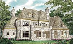 Stately Stone - 17655LV | 1st Floor Master Suite, Bonus Room, Butler Walk-in Pantry, CAD Available, Den-Office-Library-Study, European, French Country, Loft, Luxury, Media-Game-Home Theater, PDF, Photo Gallery | Architectural Designs